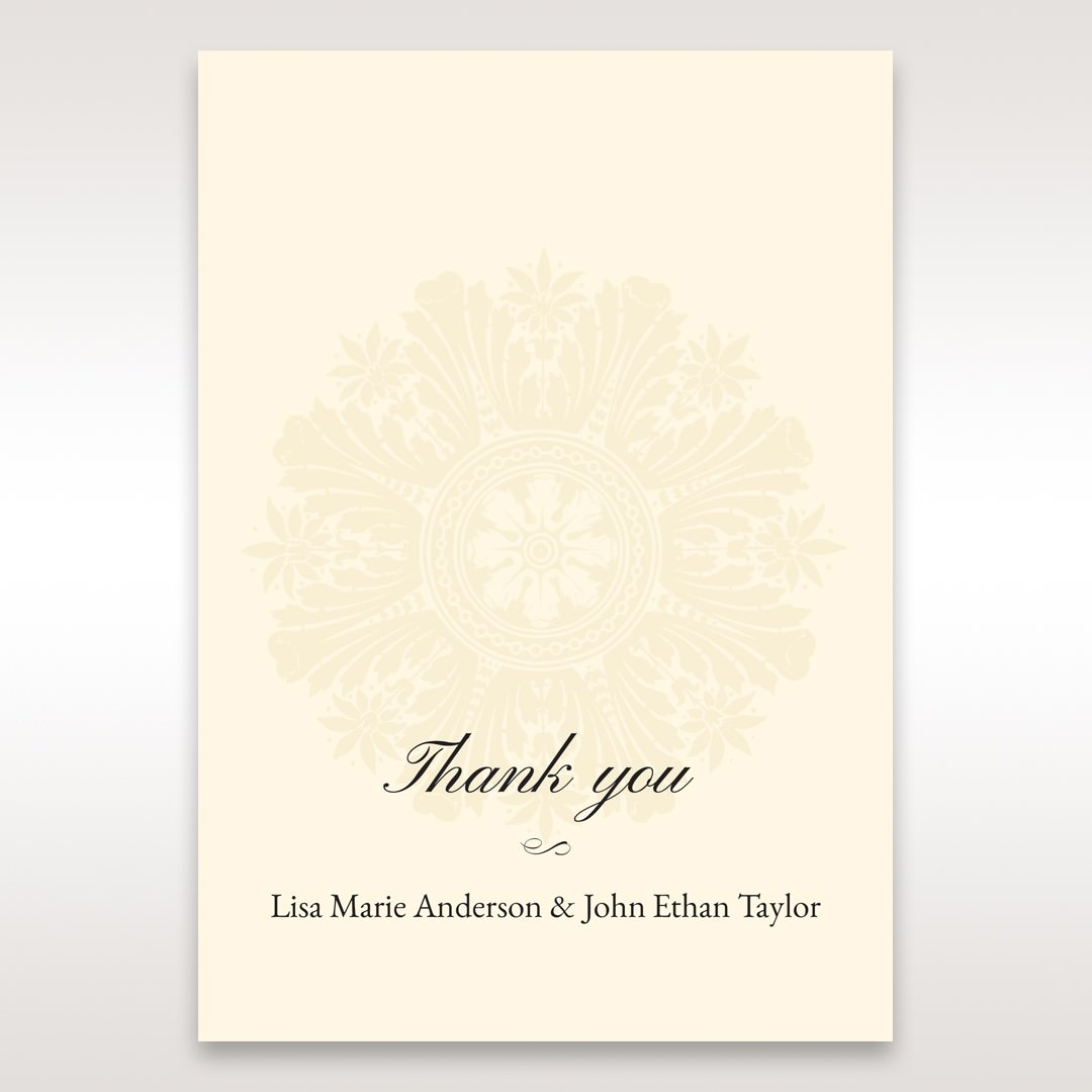 Brown Classic Couture Gold & Brown - Thank You Cards - Wedding Stationery - 93