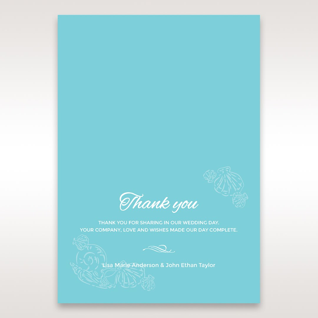 Green Ocean Frame I Laser Cut - Thank You Cards - Wedding Stationery - 19