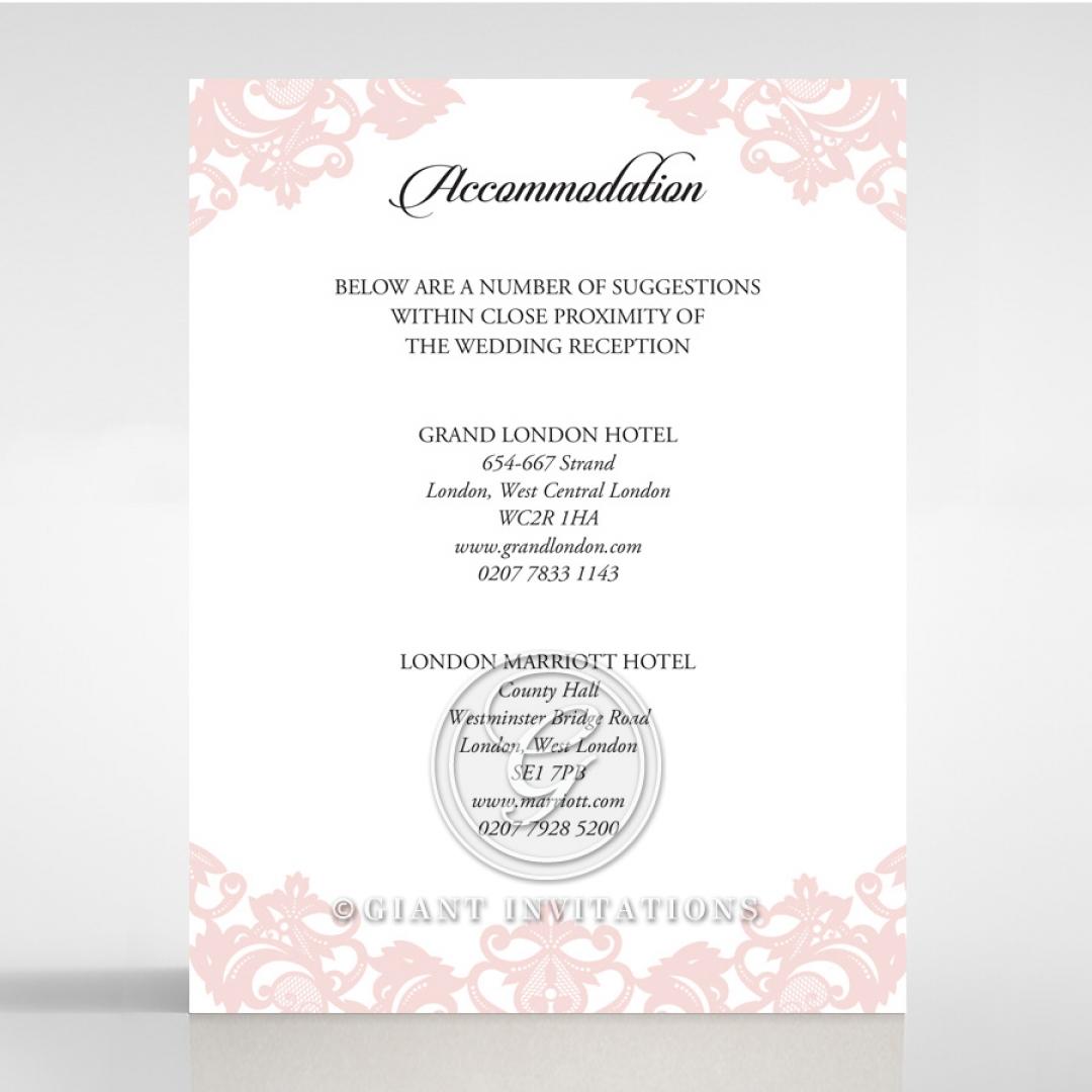 Baroque Pocket wedding accommodation card