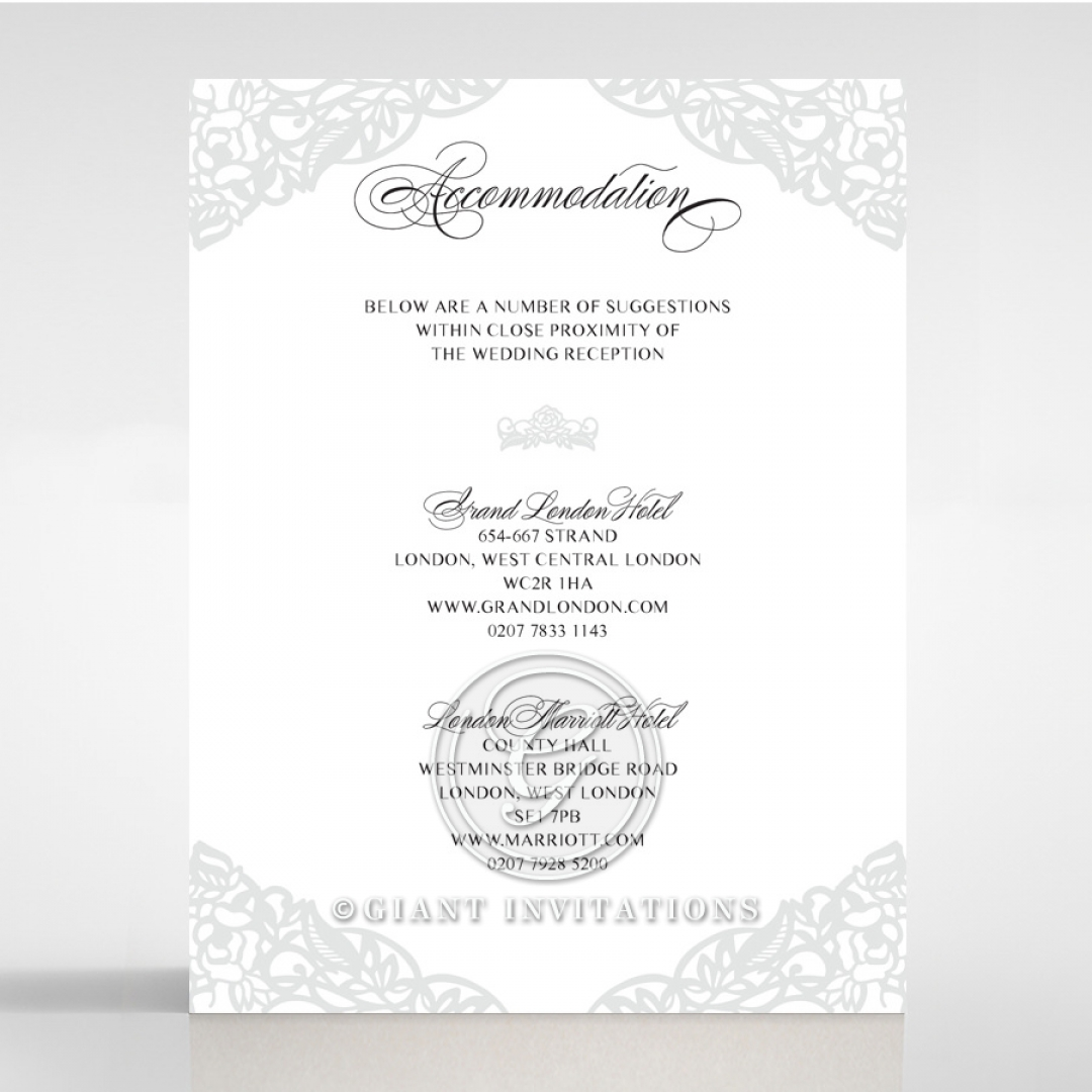 Black Floral Lux accommodation enclosure stationery invite card