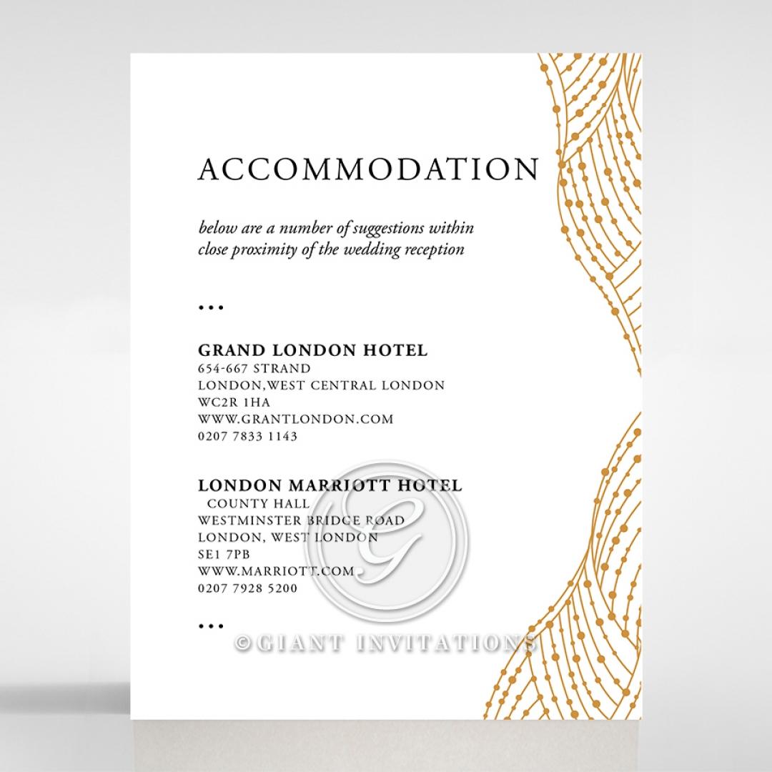 Woven Love Letterpress wedding accommodation enclosure invite card design