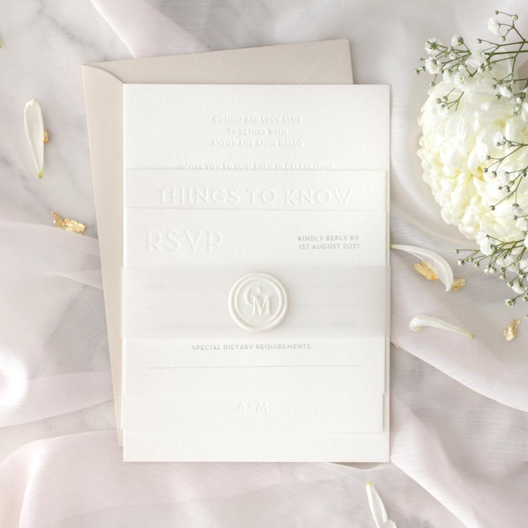 Immaculate Letterpress - Wedding Invitations - IC550-LPBD-02 - 184939