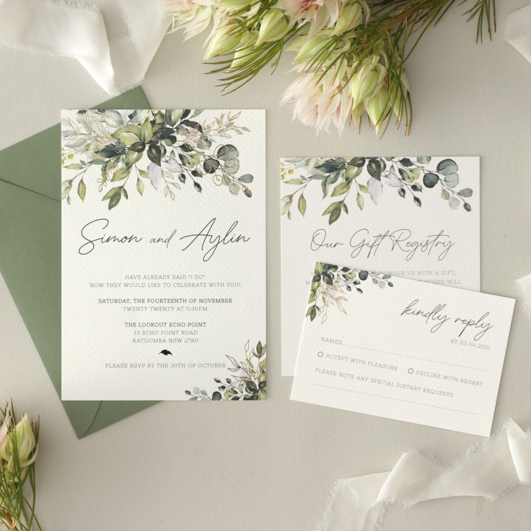 Captivating Greenery - Wedding Invitations - WP-CP02-GG-01 - 184472