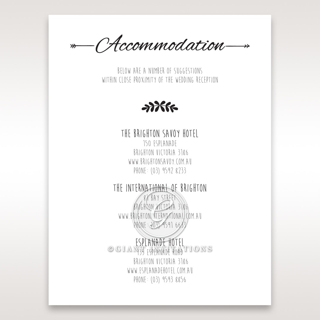 Country Lace Pocket Accommodation Cards in Ivory DA115086