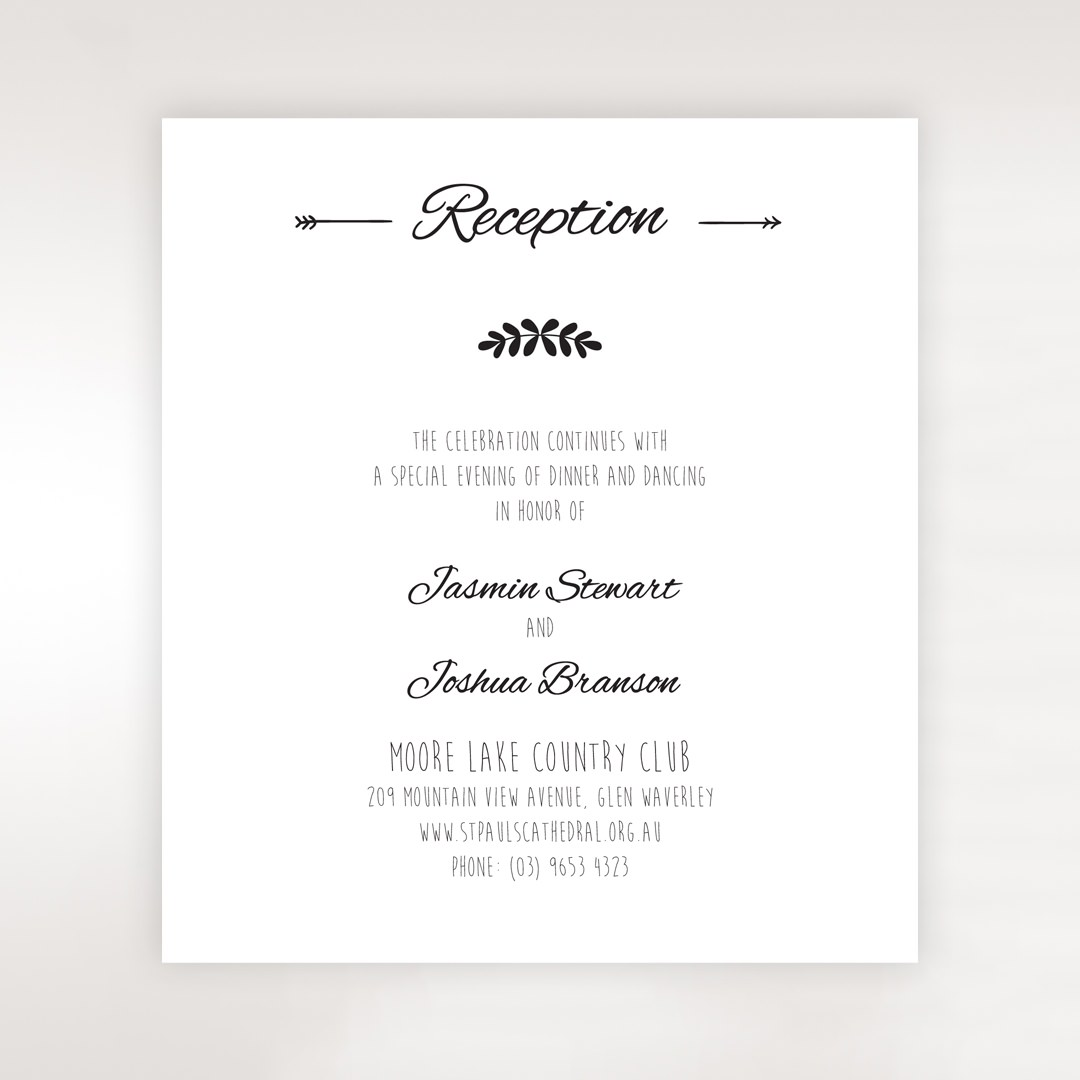 Country Lace Pocket Reception card in Ivory DC115086