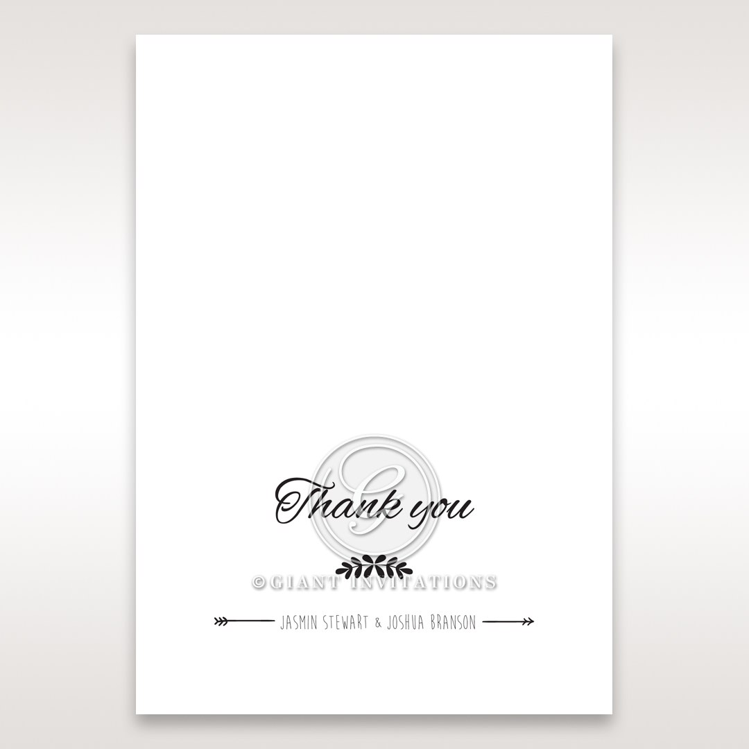 Country Lace Pocket Thank You Cards in Ivory DY115086