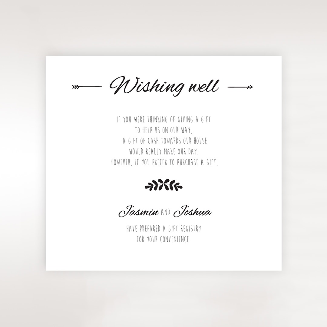 Wedding Gift Registry Sydney: Country Lace Pocket Wishing Well Card