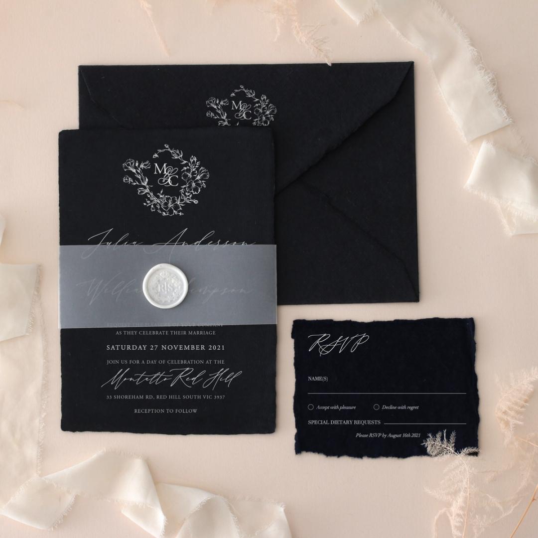 Magnificently Vintage - Wedding Invitations - DEBL-WI-01 - 185165