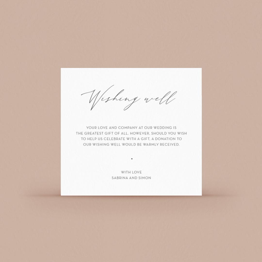 Full Colour Wishing Well Card - Wishing Well / Gift Registry - WD-KI300-CP-02 - 184109