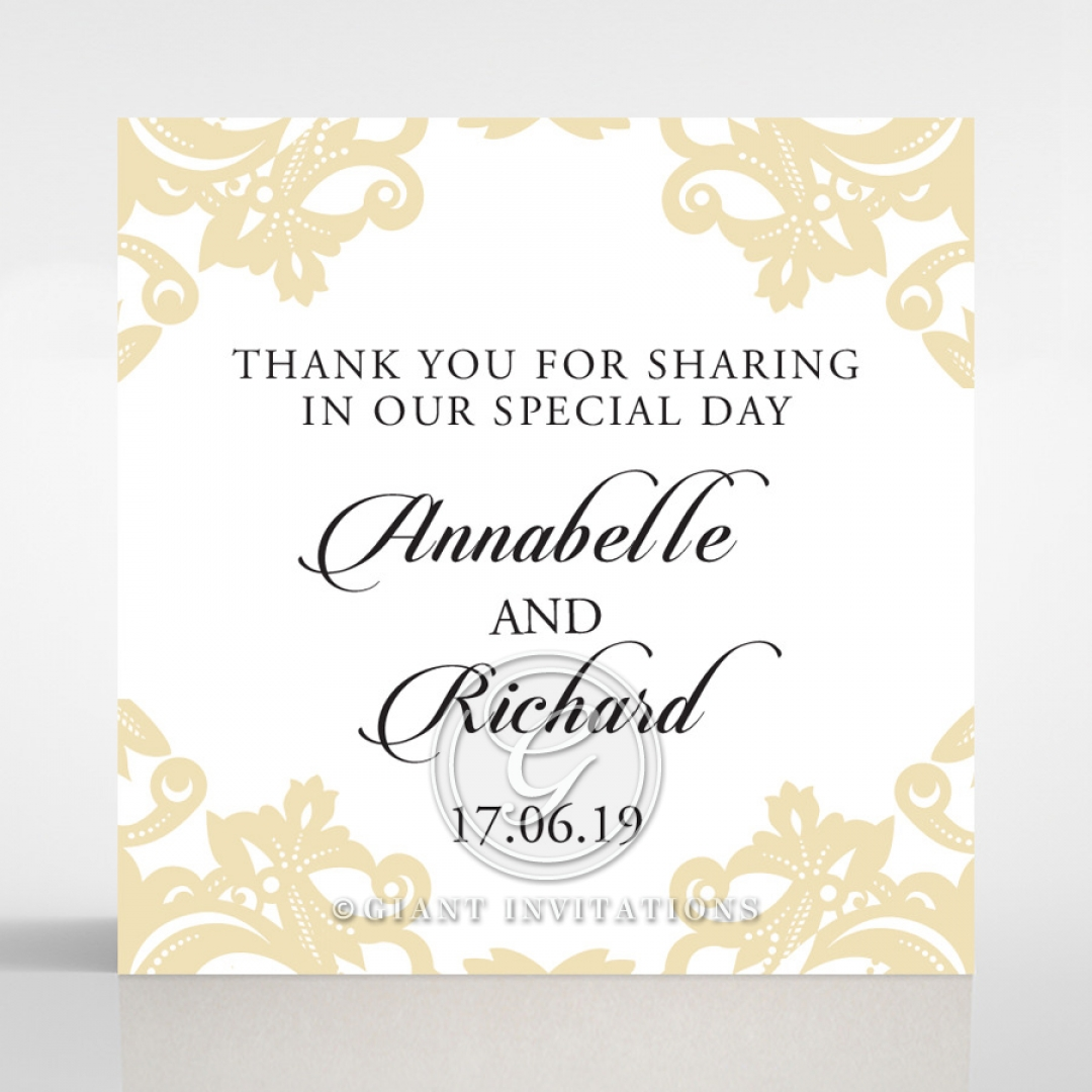 Golden Baroque Pocket wedding gift tag