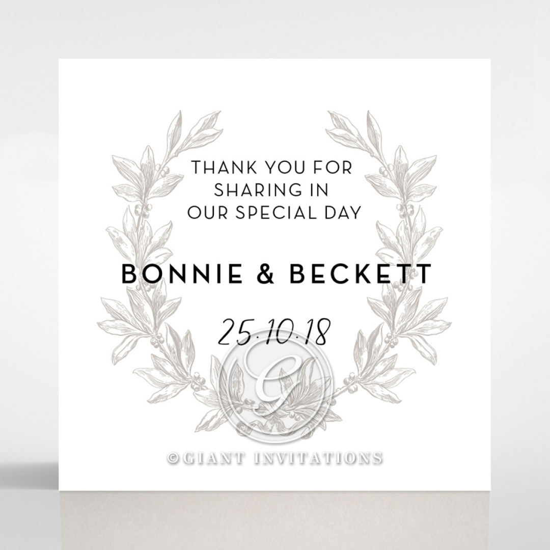 Paper Timeless Simplicity wedding stationery gift tag design