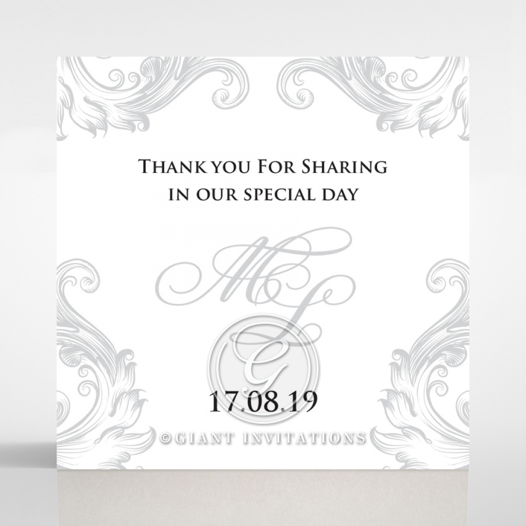 Regally Romantic wedding stationery gift tag