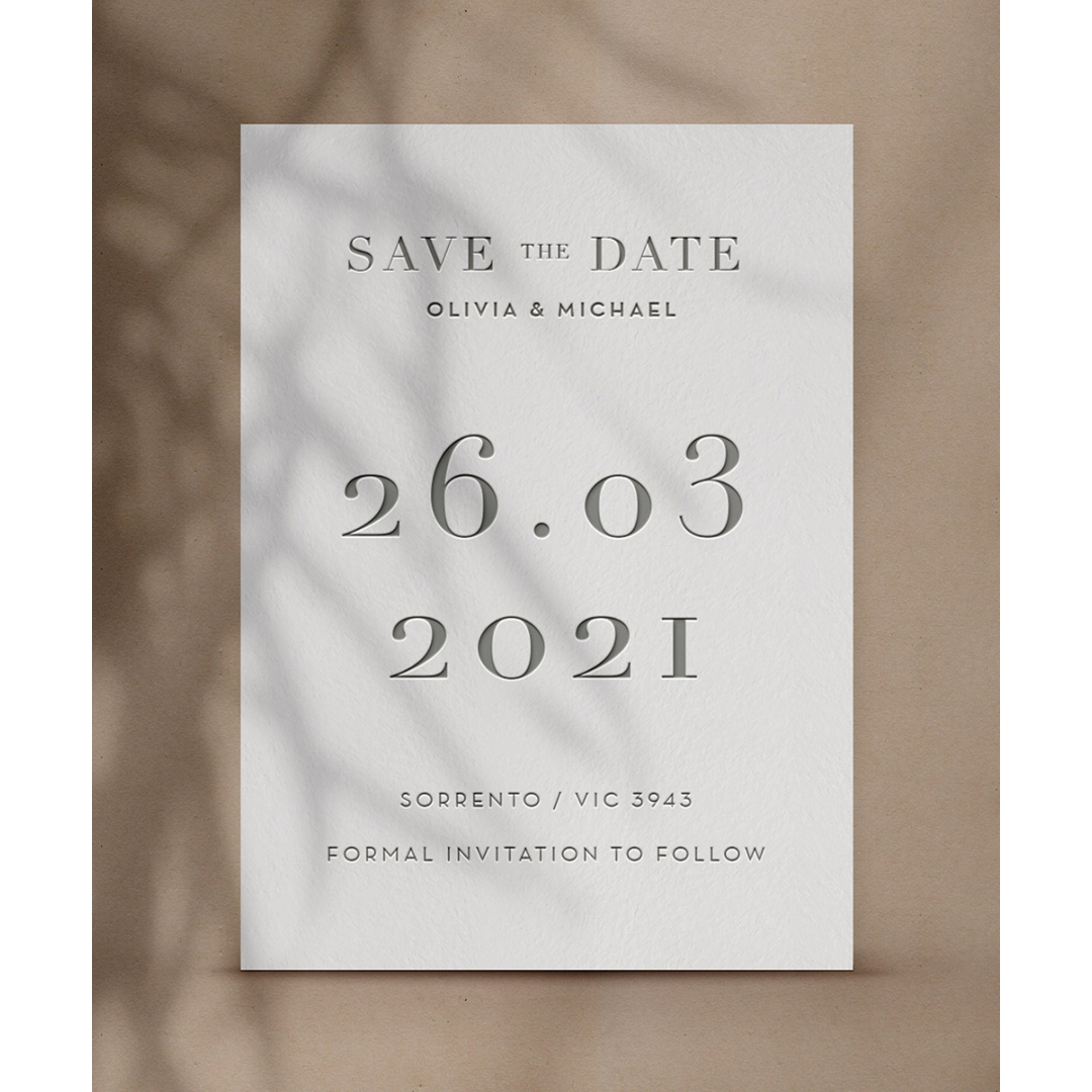 Timeless Grey Letterpress - Wedding Invitations - WP-CR14-SD-CL - 184249