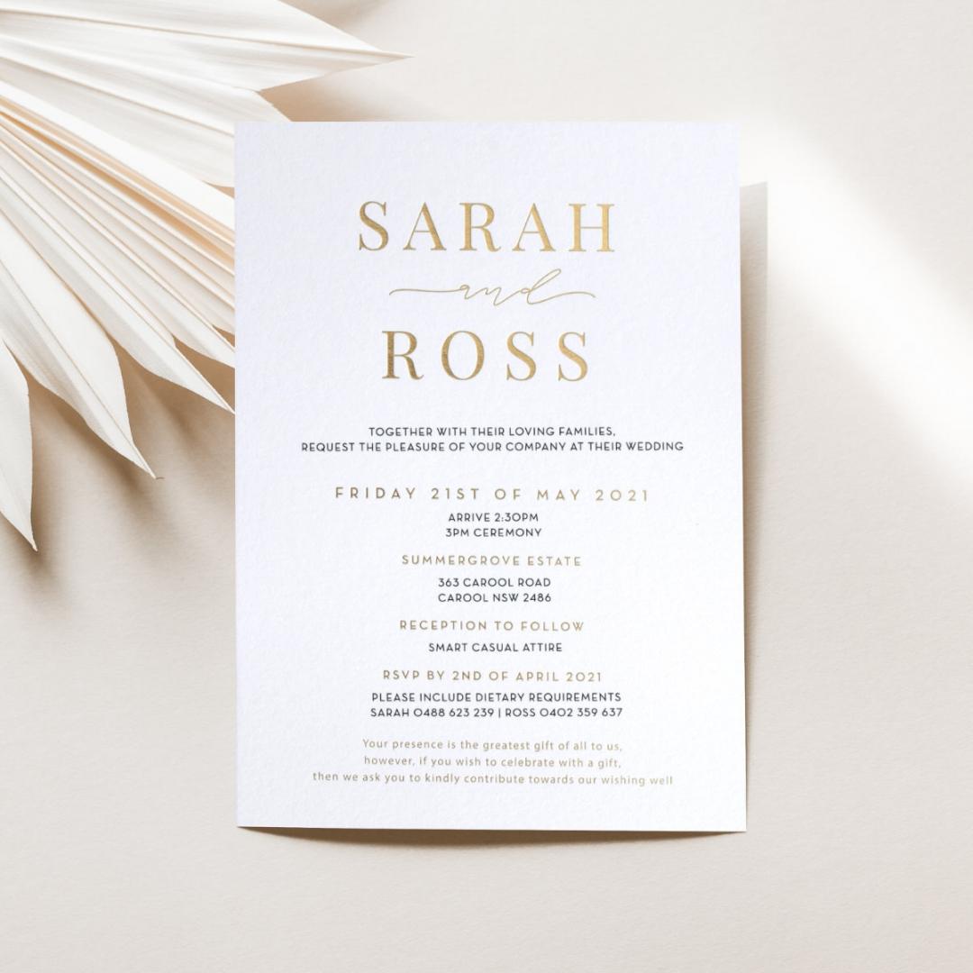 Sleek Combination - Wedding Invitations - KI300-GG-BL-04 - 184862