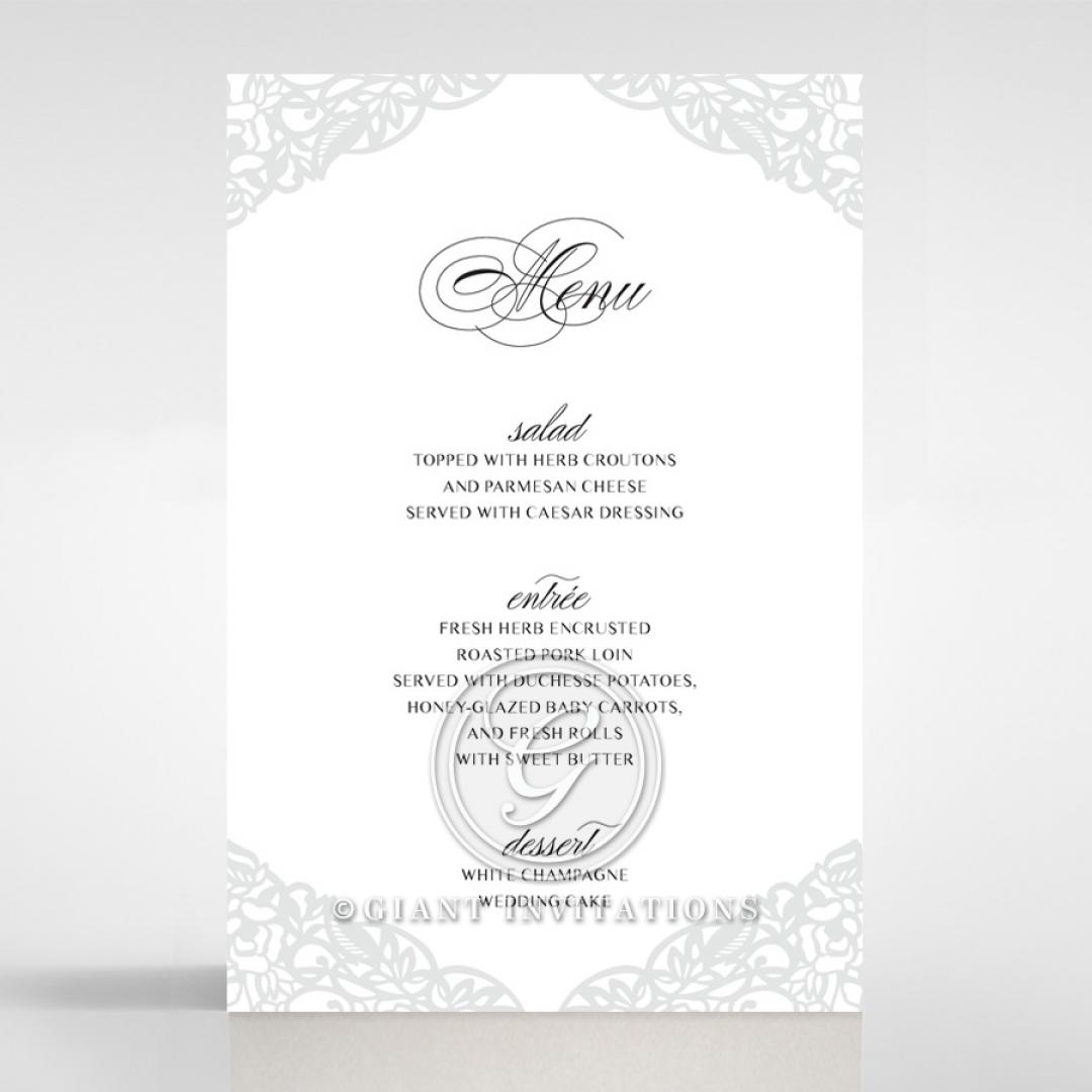 Black Floral Lux reception menu card stationery design