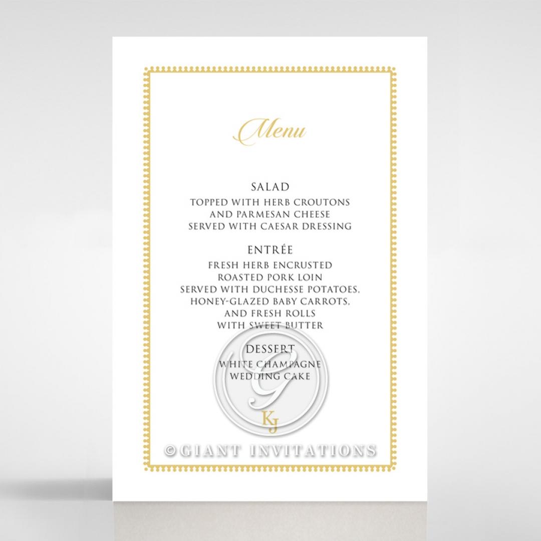 Blooming Charm wedding reception menu card stationery