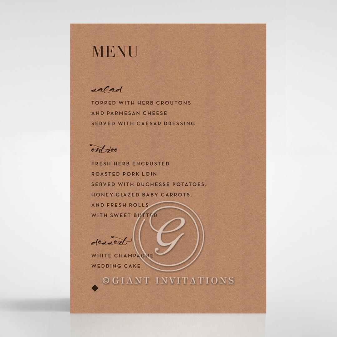 Enchanting Imprint wedding stationery menu card design