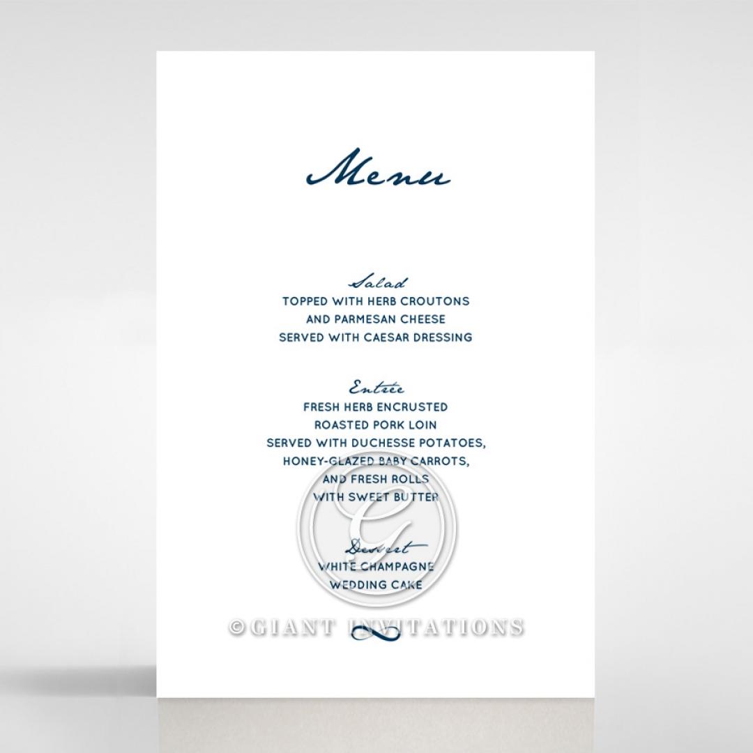 Eternal Simplicity menu card stationery item