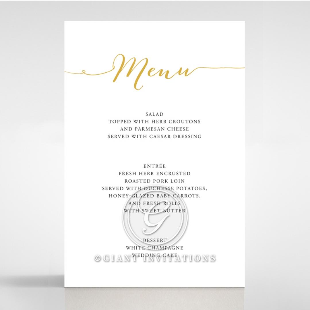 Infinity wedding stationery menu card