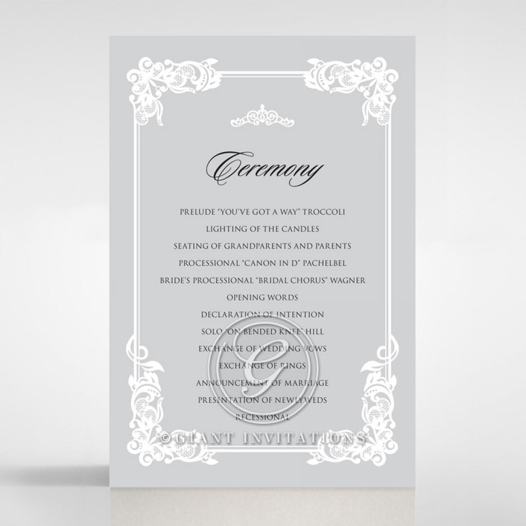 Black Divine Damask order of service invitation card design