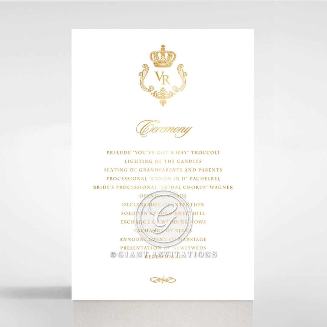 Black Victorian Gates with Foil order of service invite