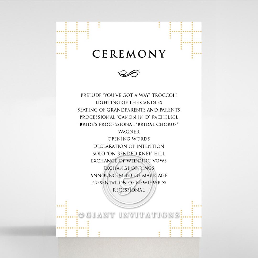 Quilted Letterpress Elegance order of service stationery invite card design