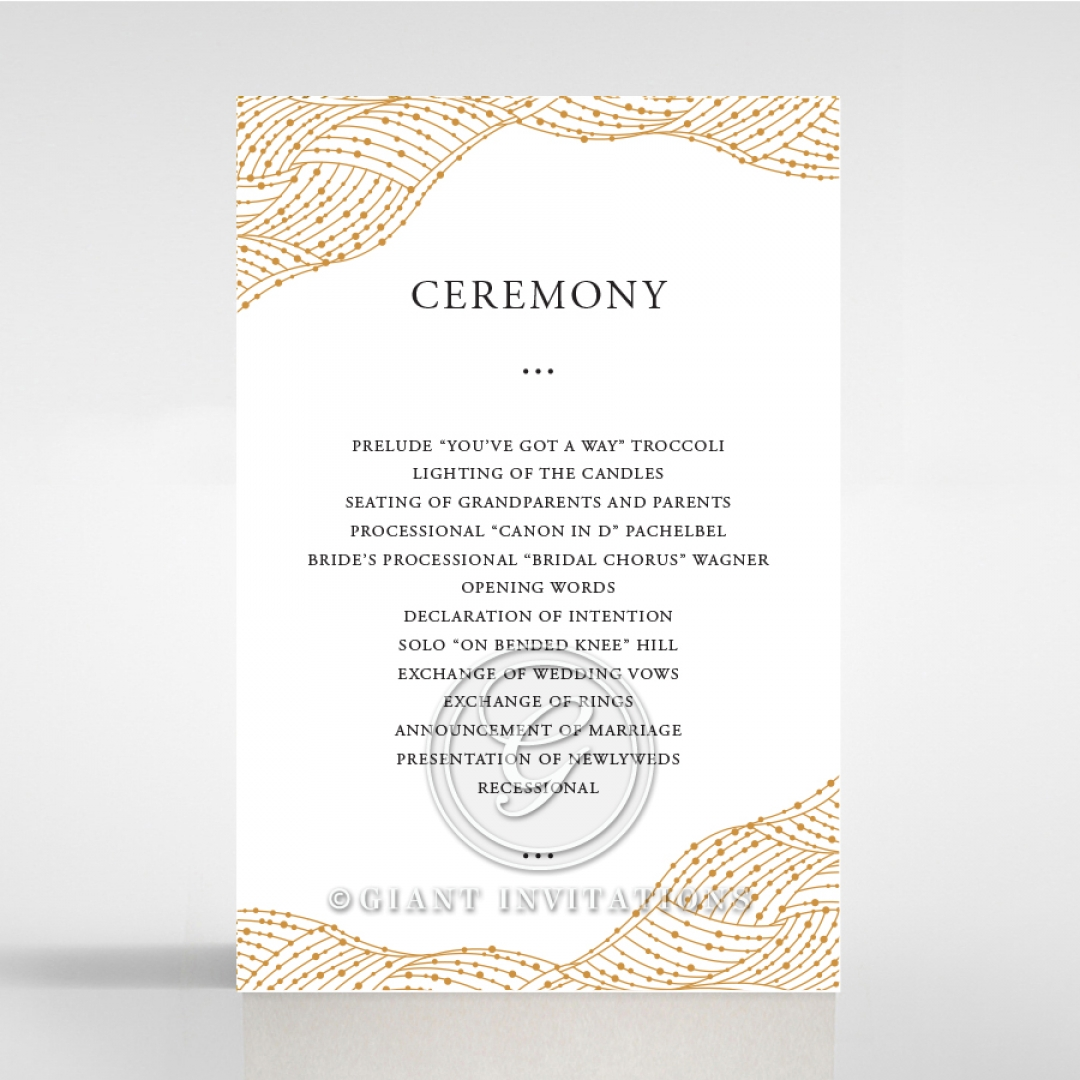Woven Love Letterpress order of service ceremony stationery invite card