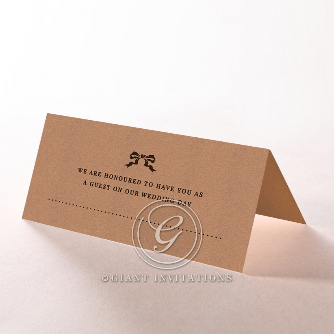 Chic Country Passion reception place card