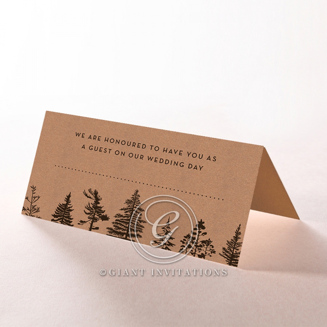 Delightful Forest Romance reception place card stationery