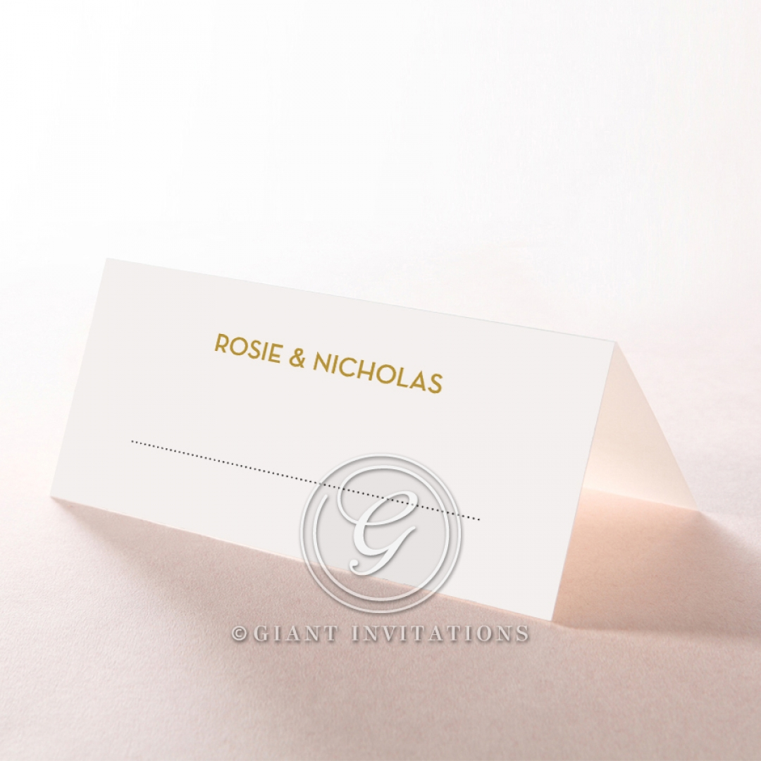 Gold Chic Charm Paper table place card