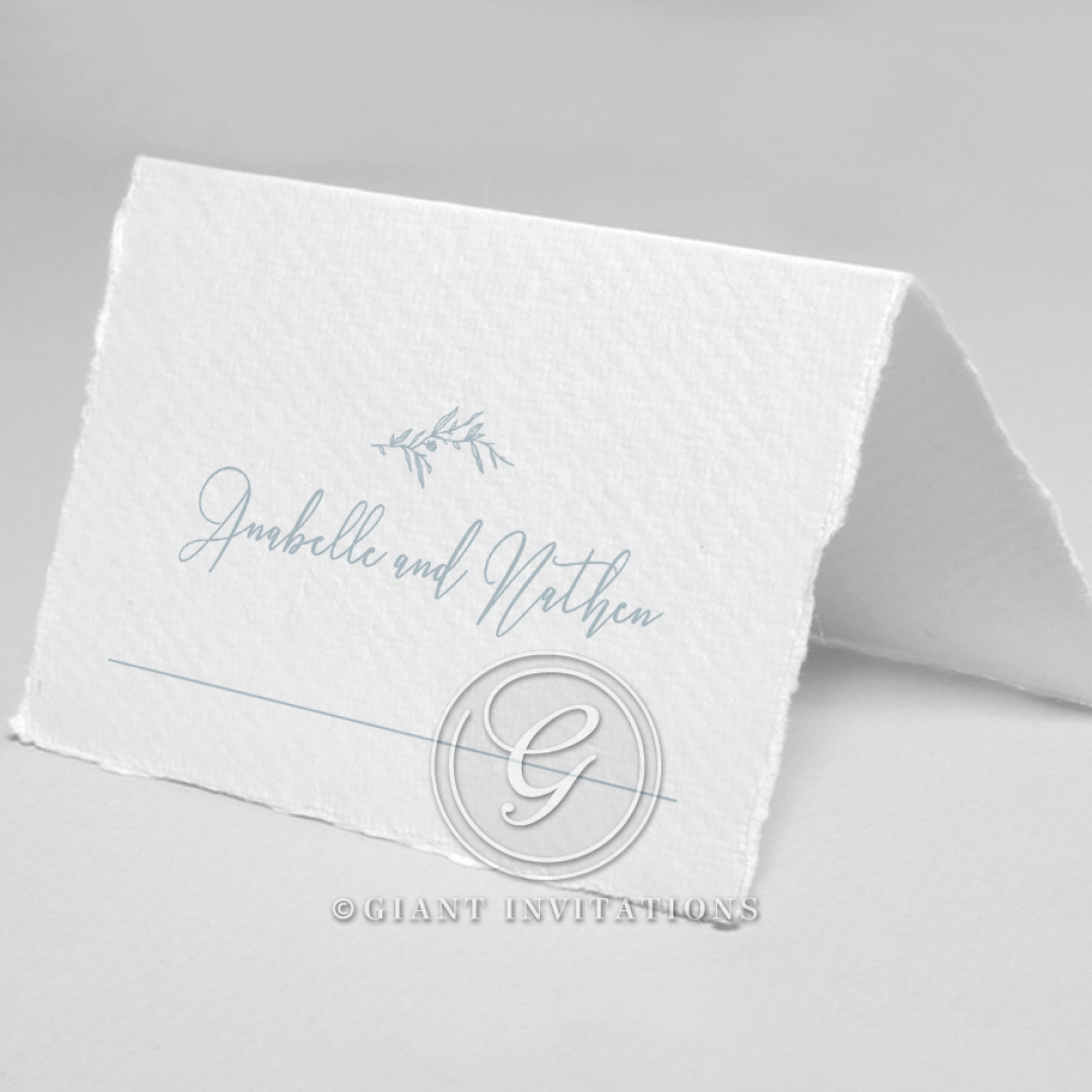 Love Circle wedding stationery table place card design
