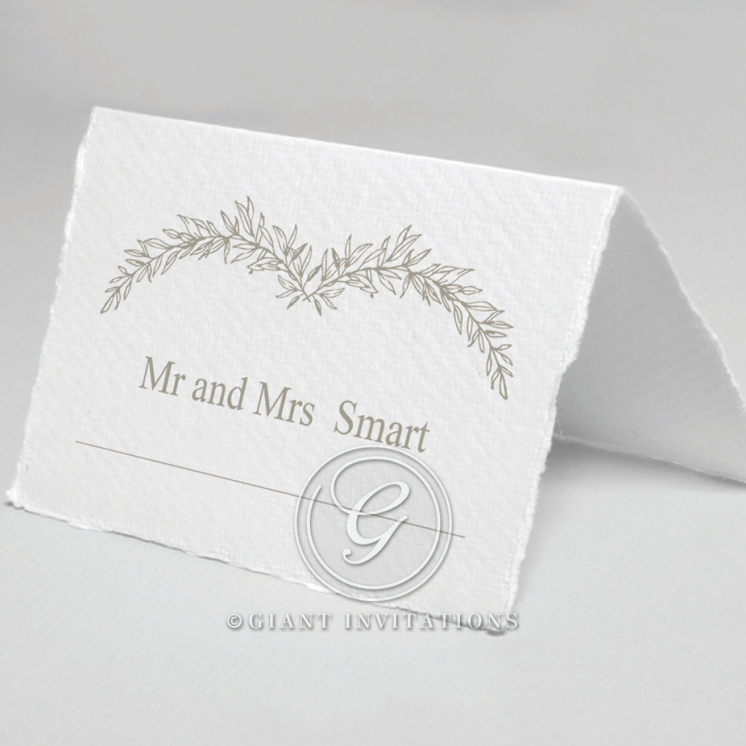 Preppy Wreath reception table place card design
