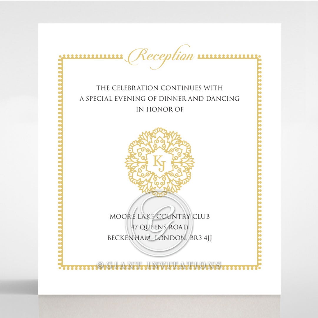 Blooming Charm reception wedding invite card