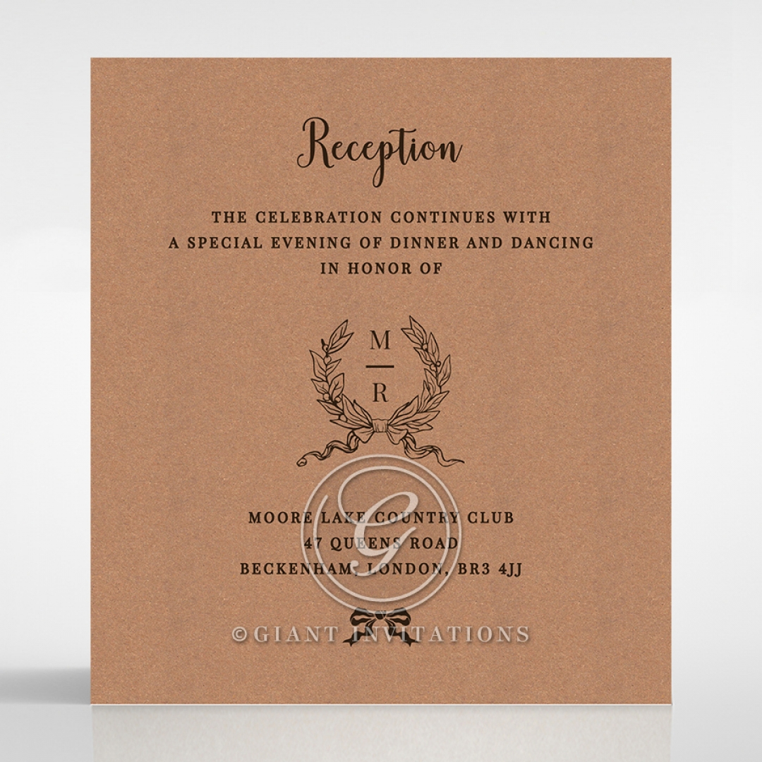 Chic Country Passion reception enclosure stationery card