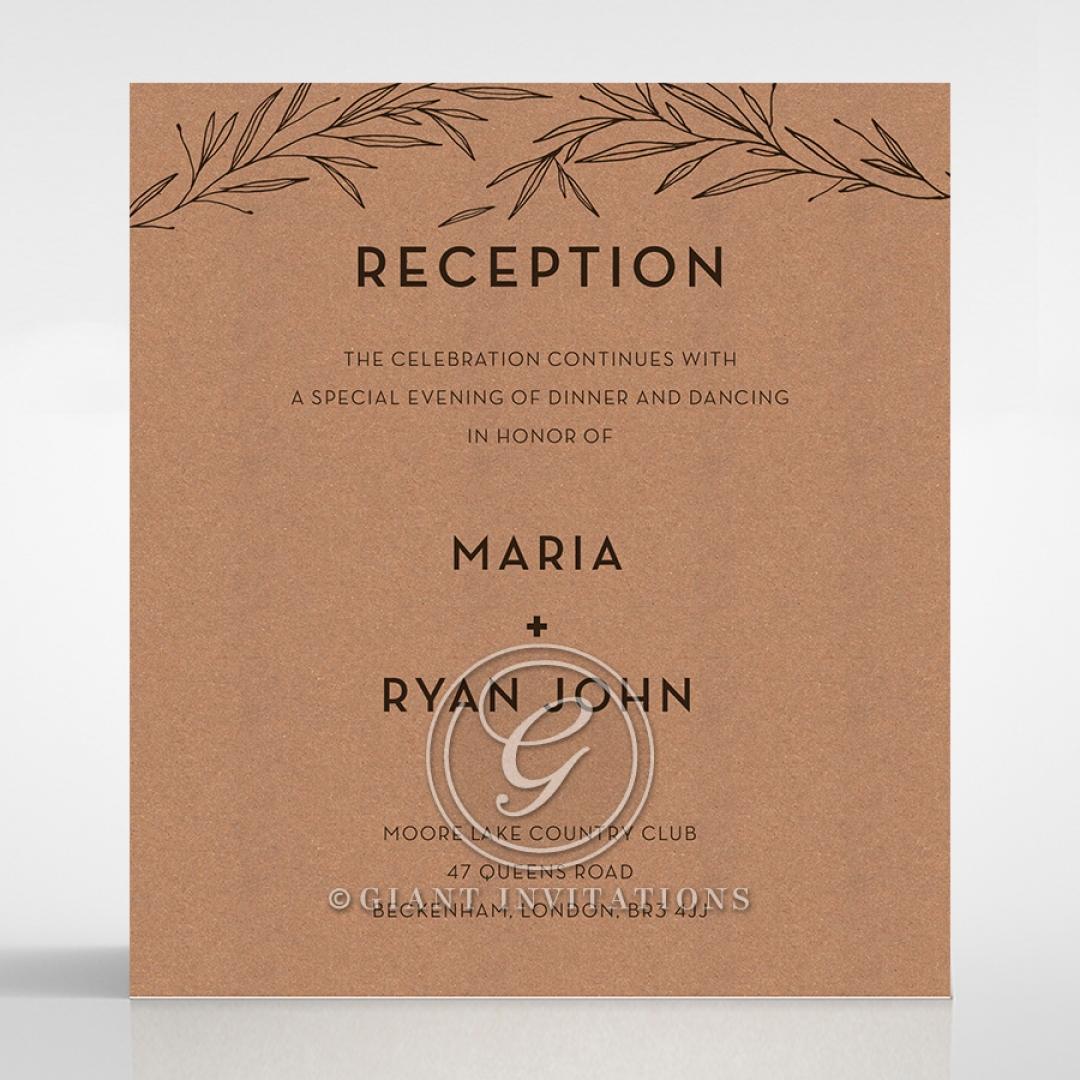 Enchanting Imprint wedding reception card design