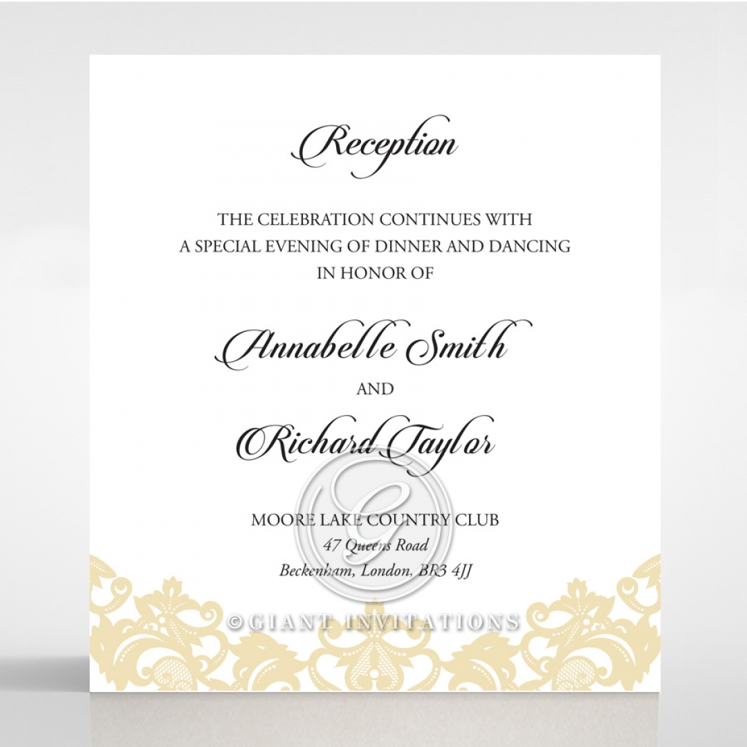 Wedding Reception Cards Matching Styles Page 3