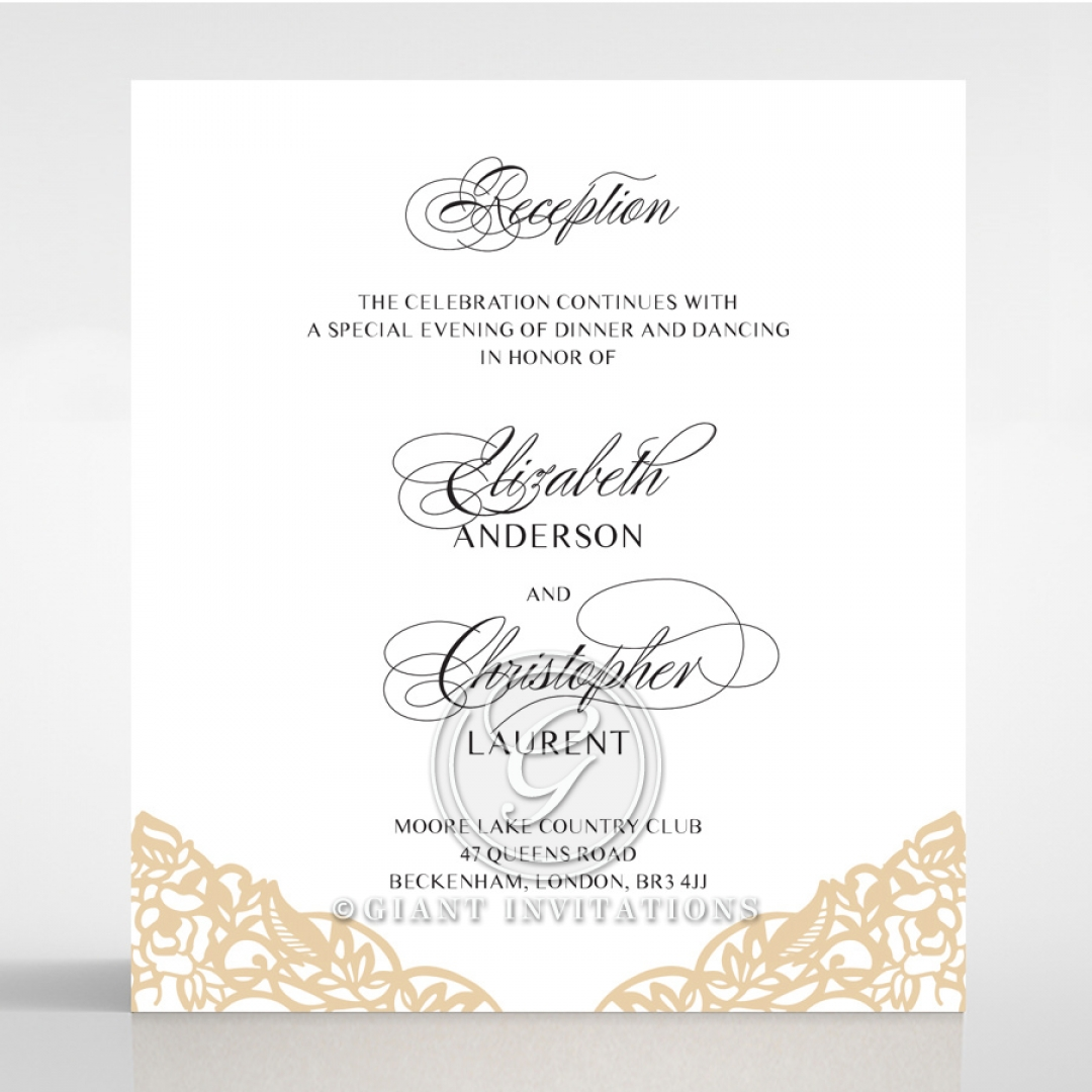Golden Floral Lux reception invite