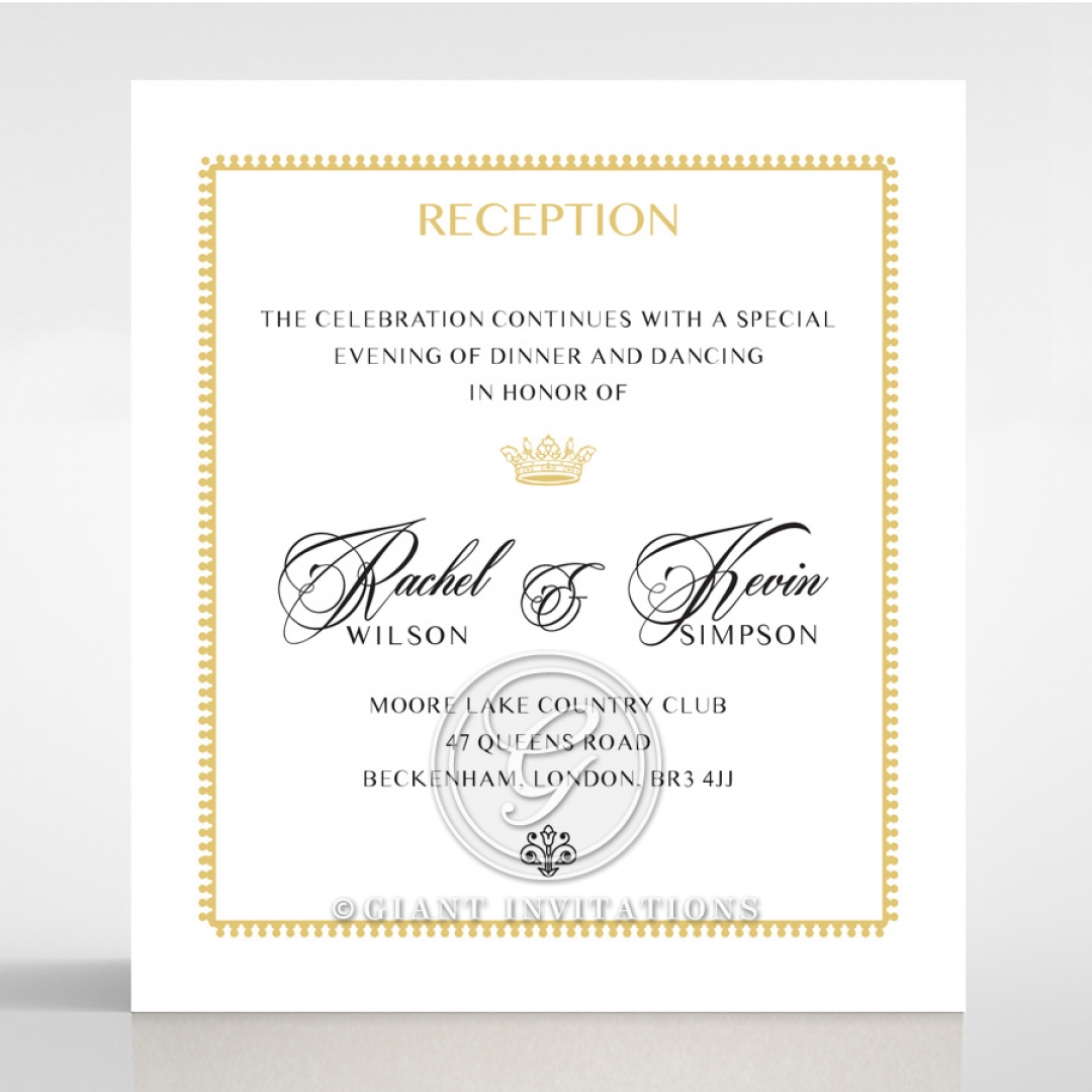 Ivory Doily Elegance reception stationery invite