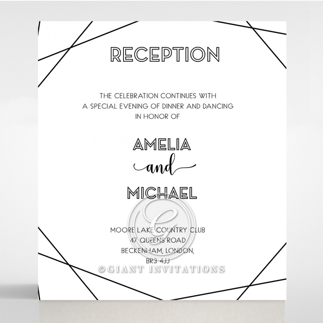 Paper Art Deco reception stationery