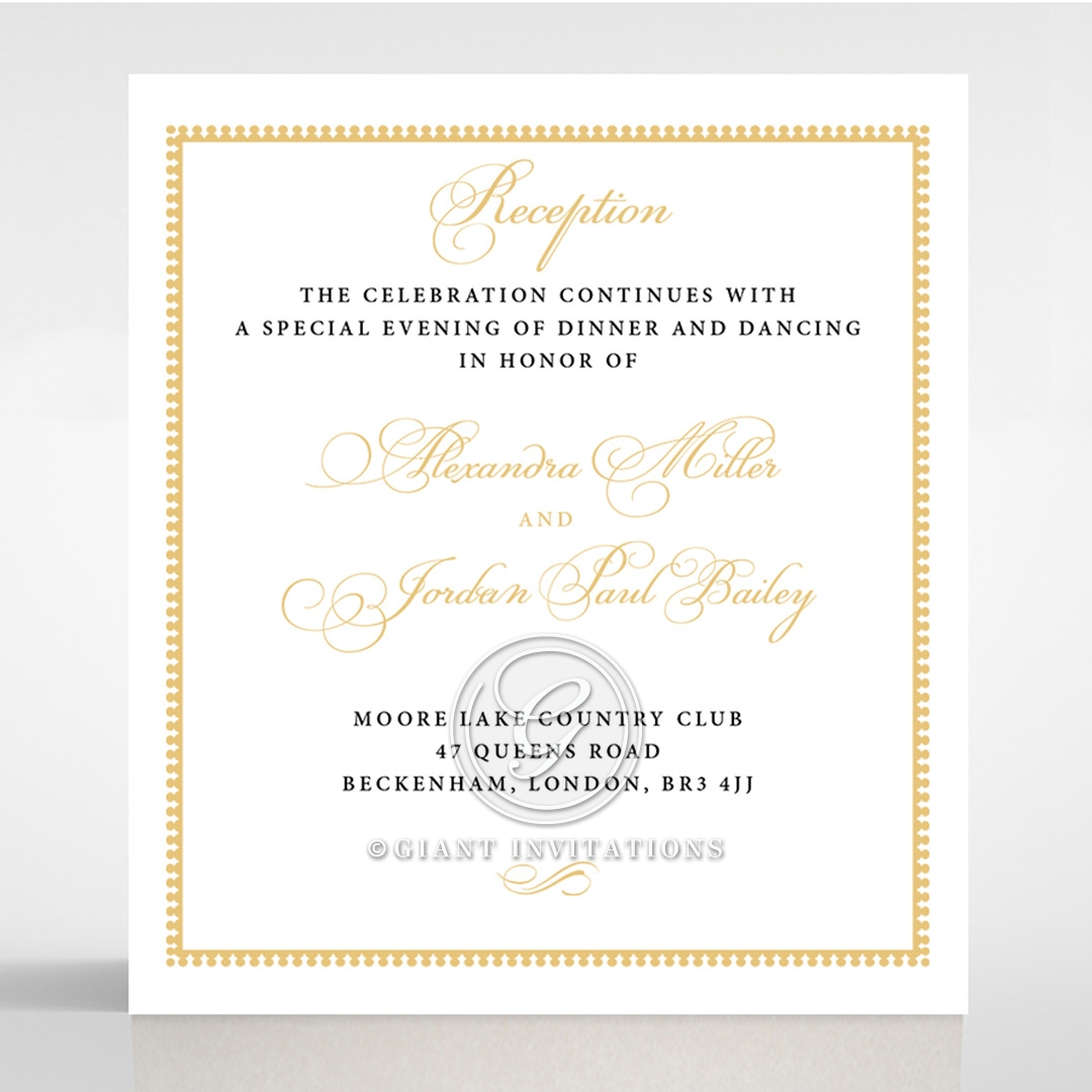 Royal Lace wedding reception card