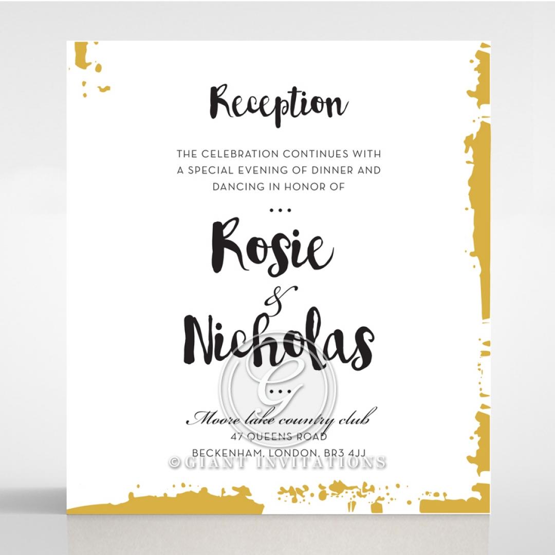 Rusted Charm wedding stationery reception enclosure invite card design