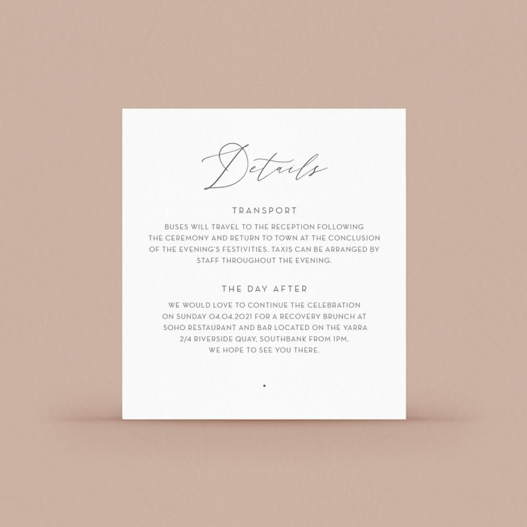 Full Colour Reception Card - Reception Cards - CD-KI300-CP-03 - 184110