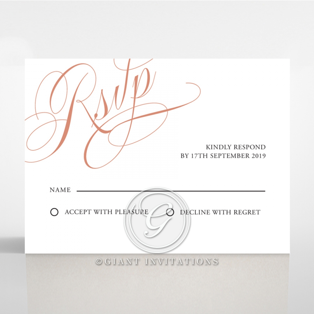 A Polished Affair rsvp invitation design