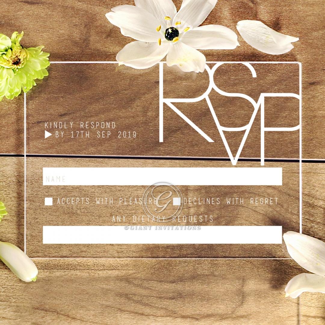 Acrylic Minimalist Love rsvp card design