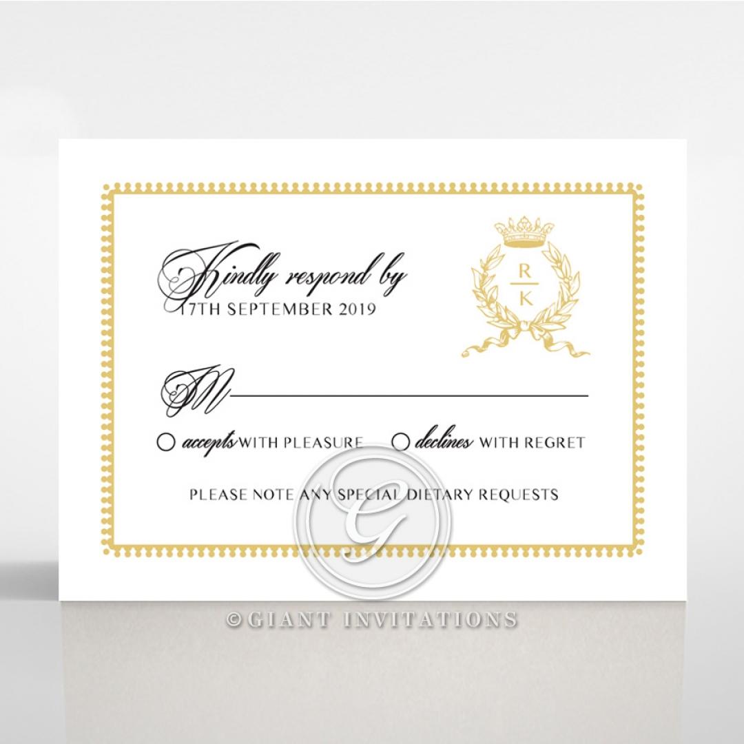 Black Doily Elegance rsvp invite design