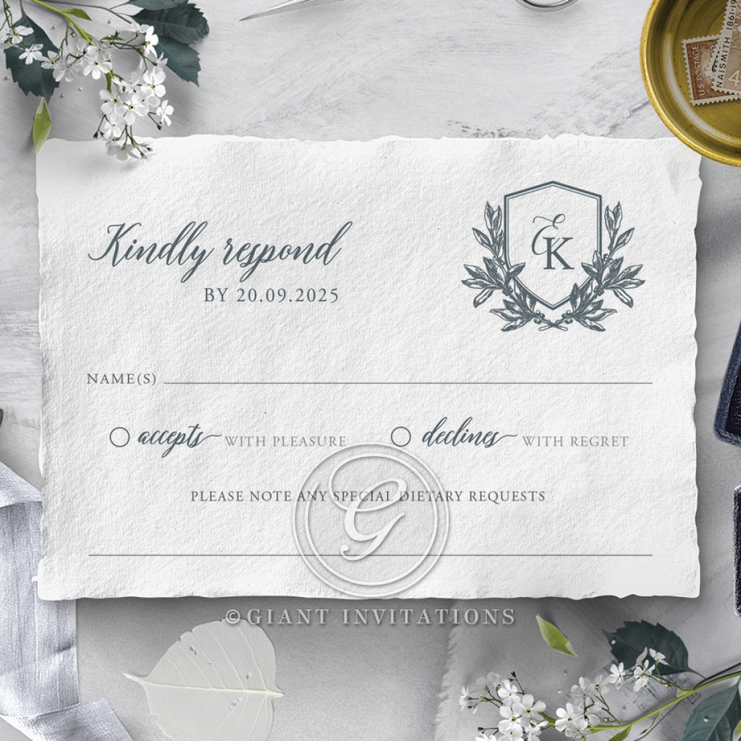 Castle Wedding rsvp wedding card design