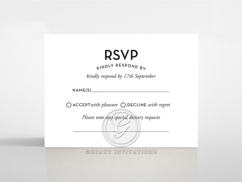 Clear Chic Charm Paper rsvp wedding enclosure card design