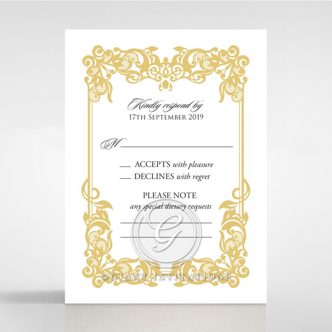 Divine Damask rsvp card design