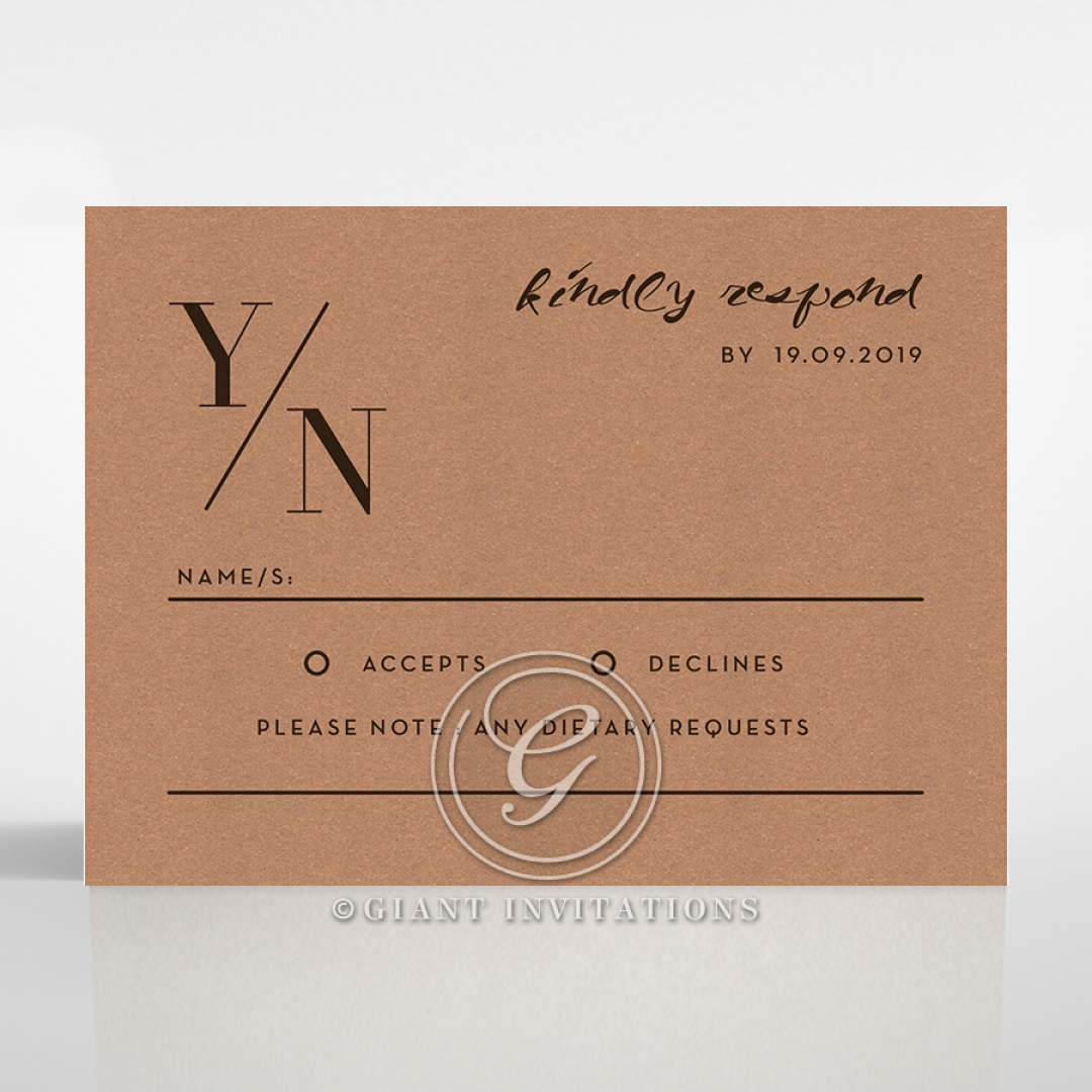 Enchanting Imprint rsvp wedding enclosure invite design
