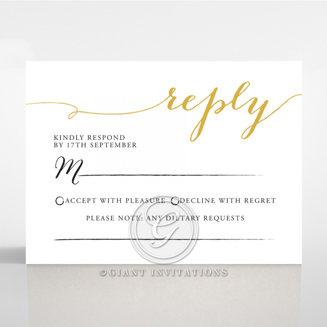 Infinity rsvp wedding enclosure invite design